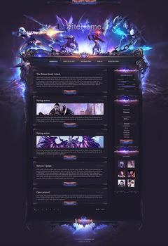 Aion Battle Game Website Template