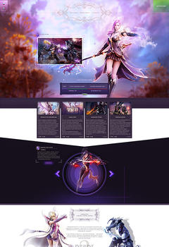 Aion Violense Game Website Template