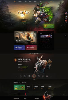 Glory2 Return of the Legend Game Website Template