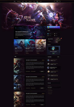 League of Legends Legacy Game Website Template