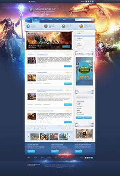 Mmorpg Play Game Website Template
